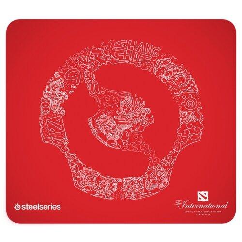 Коврик для мыши Steelseries QcK Large Dota 2 Edition рисунок/красный 450x400x2мм