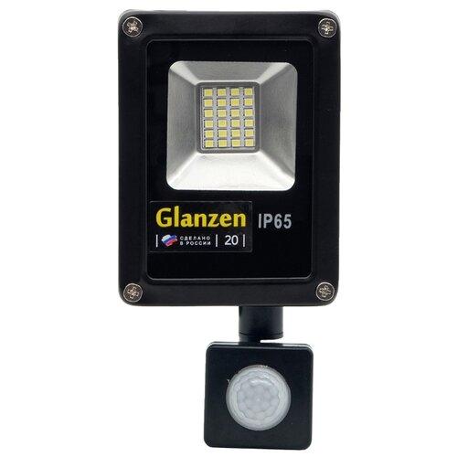 Прожектор светодиодный с датчиком движения 20 Вт Glanzen FAD-0011-20