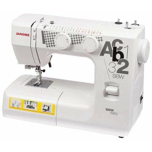 Швейная машина Janome Sew Easy, бело-серый швейная машина janome vs 54s бело сиреневый