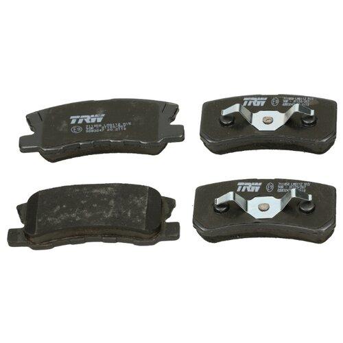 Дисковые тормозные колодки задние TRW GDB3247 для Mitsubishi, Citroen, Peugeot (4 шт.)