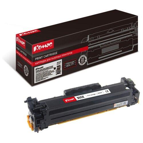 Картридж лазерный Комус 305X CE410X черный, повышенная емкость, для LJ300,M375nw