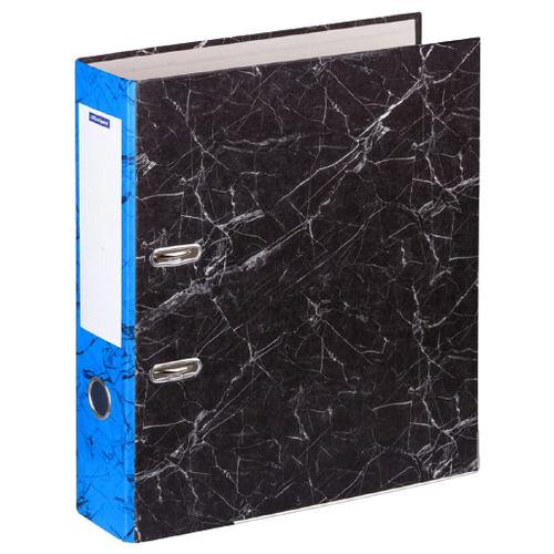 Купить OfficeSpace Папка-регистратор A4, мрамор, 70 мм черный/синий, Файлы и папки