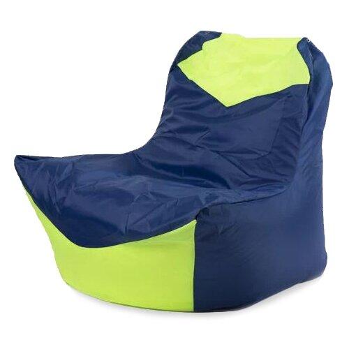 Пуффбери кресло-мешок Классическое синий/лайм оксфорд