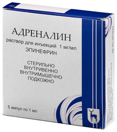 Характеристики модели Адреналин р-р д/ин. 1мг/мл амп. 1 мл №5 на Яндекс.Маркете
