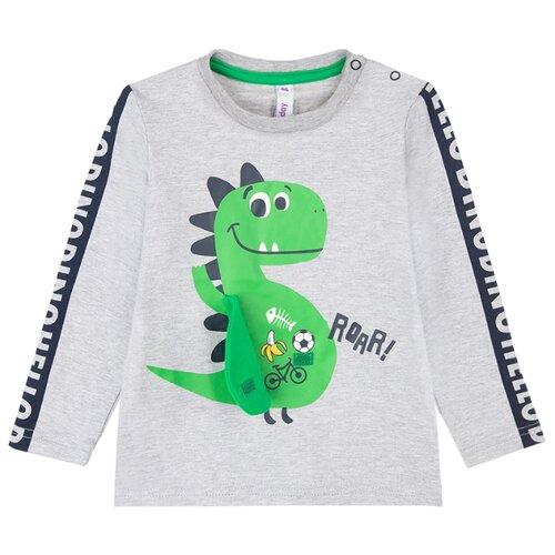 Купить Лонгслив playToday размер 74, серый/темно-синий/зеленый, Футболки и рубашки