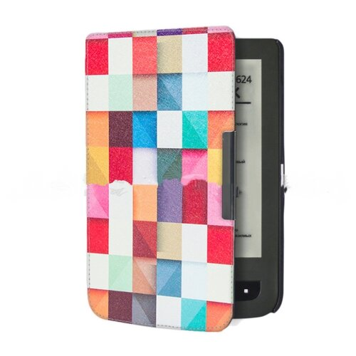 Чехол-обложка футляр MyPads для PocketBook 624 Basic Touch/ PocketBook 614 Basic 2/ PocketBook 615 тонкий с магнитной застежкой необычный с красивым рисунком тематика Яркая Мозаика