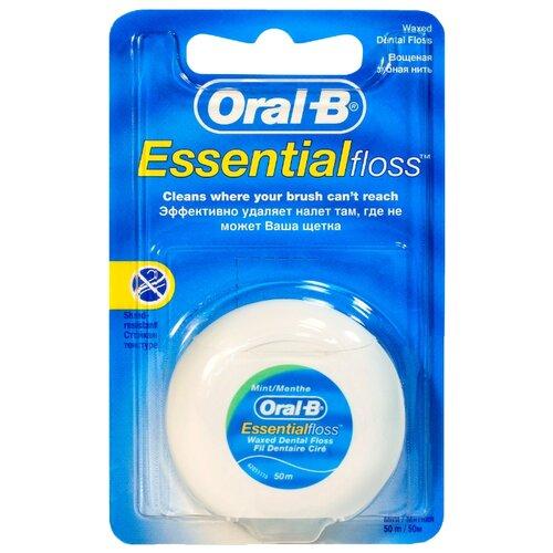 Купить Oral-B зубная нить Essential вощеная