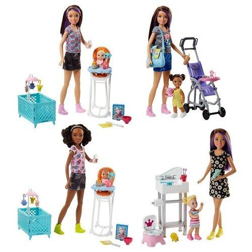 Фото - Кукла Barbie Няня Скиппер, FHY97 кукла mattel barbie скиппер няня в клетчатой юбке с малышом и аксессуарами grp11