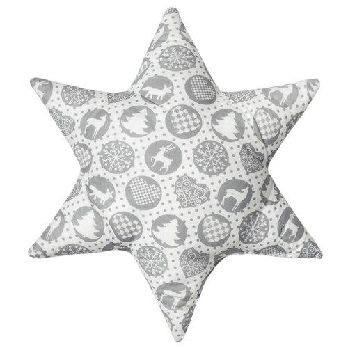 Подушка декоративная Традиция Шары новогодние, 50 х 50 см серый подушка декоративная laroche 50 х 50 см