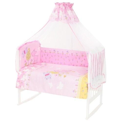 Купить Золотой Гусь комплект Little Friend 120х60 см (7 предметов) розовый, Постельное белье и комплекты