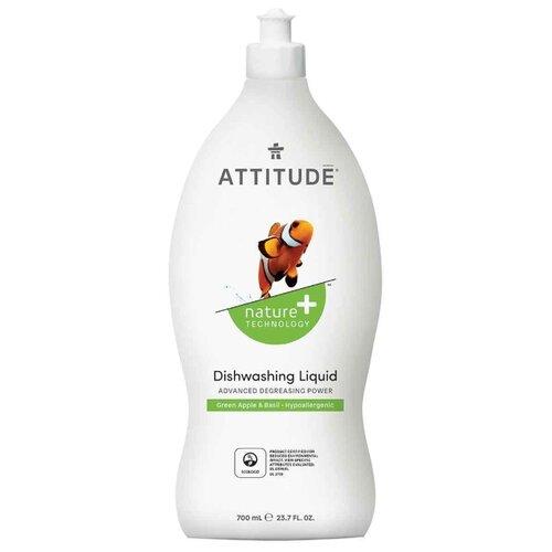 ATTITUDE Жидкость для мытья посуды Green apple & basil 0.7 л