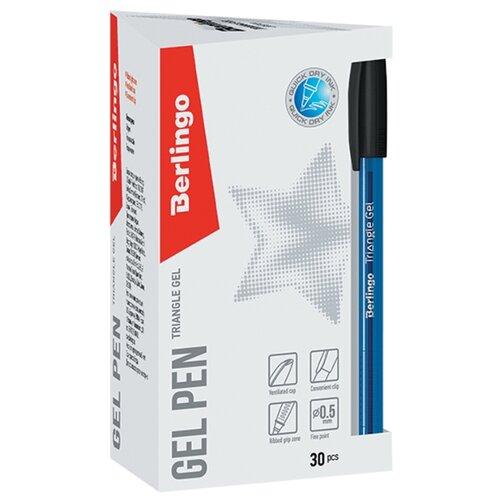 Купить Berlingo Набор гелевых ручек Triangle Gel, 0.3 мм, 30 шт., черный цвет чернил, Ручки