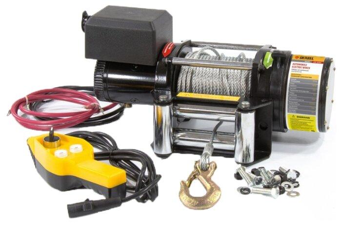 Лебедка электрическая Denzel LB-2000 со стальным тросом 24 м