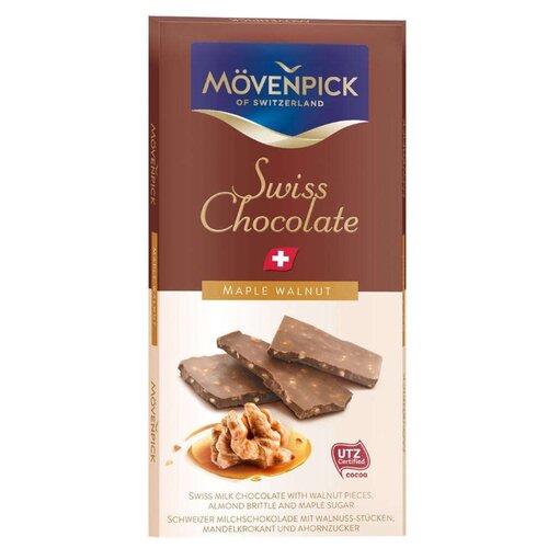 Шоколад Movenpick молочный с грецким орехом, 70 г