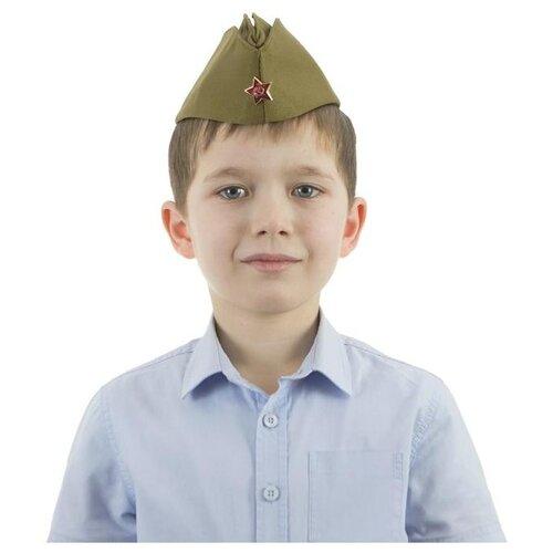 Головной убор Бока Военная форма Пилотка люкс, хаки, размер 54