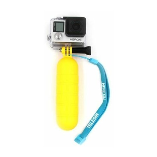 Фото - Telesin Ручка-поплавок для GoPro, Xiaomi, SJCAM, EKEN желтая telesin монопод трансформер 3 way с ручкой поплавком для gopro xiaomi sjcam eken