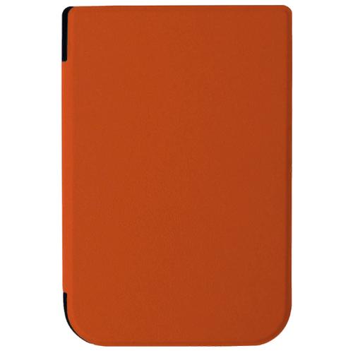 Чехол-обложка футляр MyPads для PocketBook 631 Touch HD из качественной эко-кожи тонкий с магнитной застежкой оранжевый