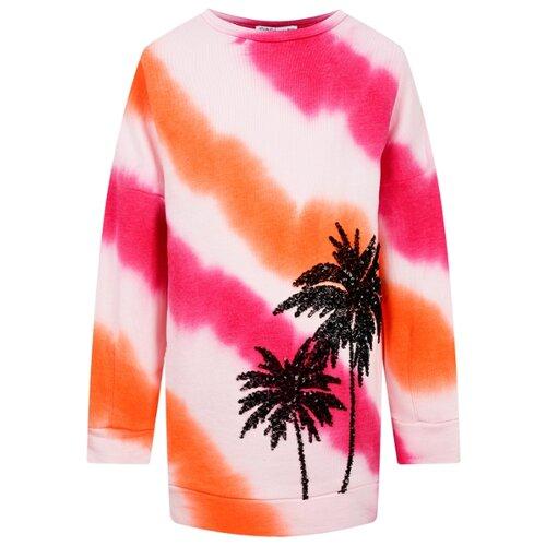 Платье PATRIZIA PEPE размер 164, розовый/оранжевый