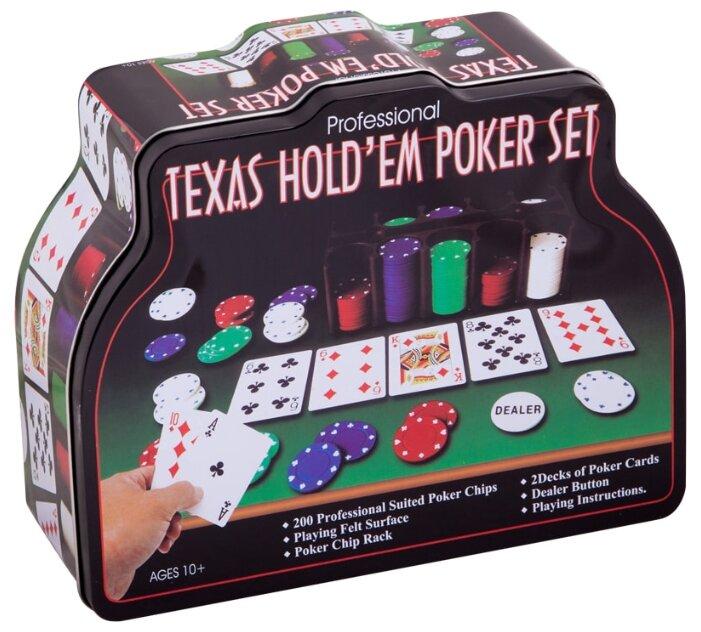 Набор для покера Нескучные игры Professional Texas Hold'em Poker Set, 200 фишек