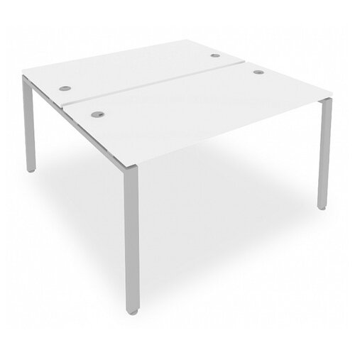 Стол офисный Рива Metal System Б.РАС-СП-2.3 серый/белый