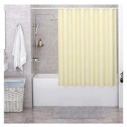 Штора для ванной WasserKRAFT Oder SC-30101 180x200 желтый
