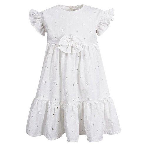 Платье Il Gufo размер 74, белый платье oodji ultra цвет красный белый 14001071 13 46148 4512s размер xs 42 170