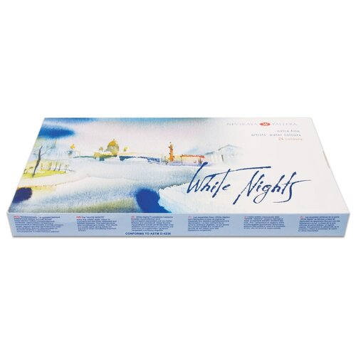 Купить Невская палитра Краски акварельные Белые Ночи 24 цвета (1942090)