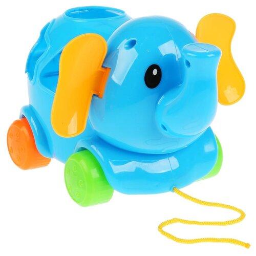 Купить Каталка-игрушка Умка Слон 1602H012-R-D1 голубой, Каталки и качалки