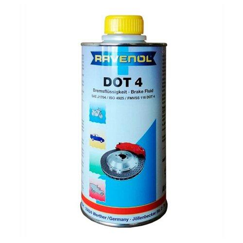 Тормозная жидкость Ravenol DOT 4 0.5 л тормозная жидкость zalmer dot 4 0 91 л