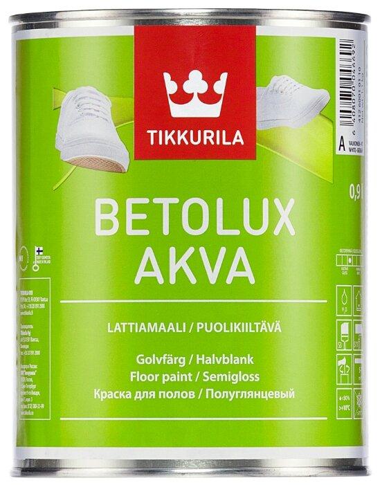 Краска акриловая Tikkurila Betolux Akva полуглянцевая