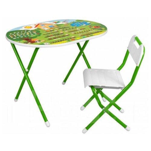Купить Комплект ДЭМИ стол + стул №у3-01 Дача 50x80 см зеленый, Парты и столы