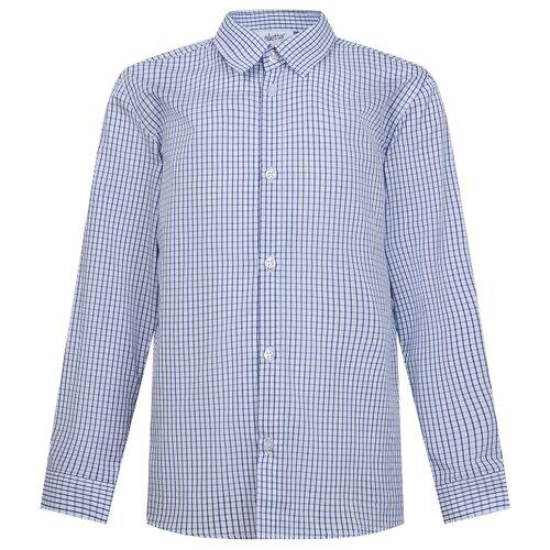 Рубашка Aletta размер 14(164), белый/голубой
