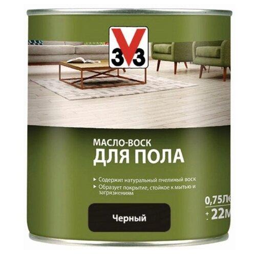 Масло-воск V33 для пола, черный, 0.75 л