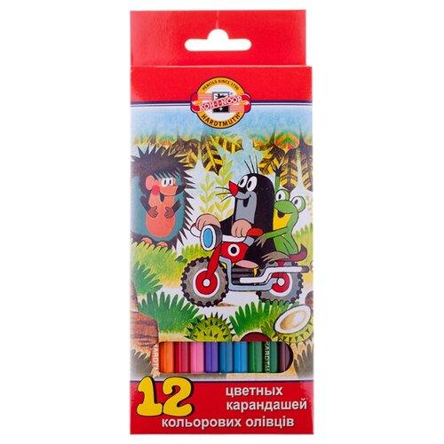 Купить KOH-I-NOOR Карандаши цветные Крот, 12 цветов (3652/12 26KS), Цветные карандаши