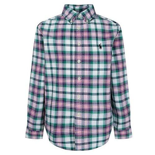 Купить Рубашка Ralph Lauren размер 122, розовый/клетка, Рубашки