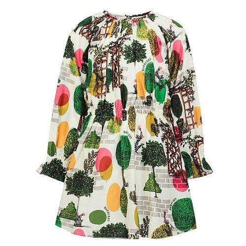 Платье Burberry размер 116, кремовый/разноцветный