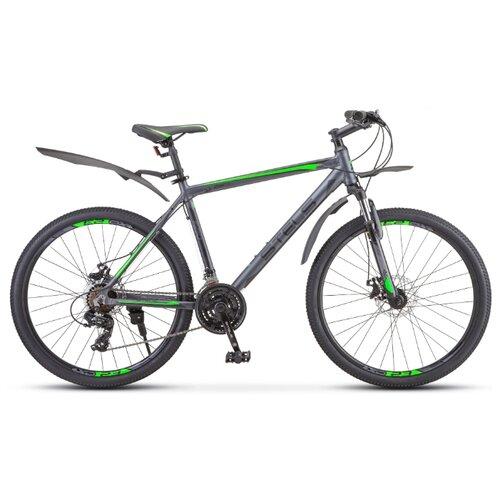 Фото - Горный (MTB) велосипед STELS Navigator 620 MD 26 V010 (2020) антрацитовый 14 (требует финальной сборки) горный mtb велосипед stels miss 5000 md 26 v010 2019 бирюзовый 17 требует финальной сборки