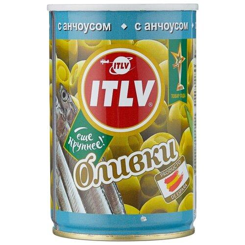 ITLV Оливки зеленые с анчоусом, жестяная банка 300 г acorsa оливки фаршированные анчоусом жестяная банка 350 г