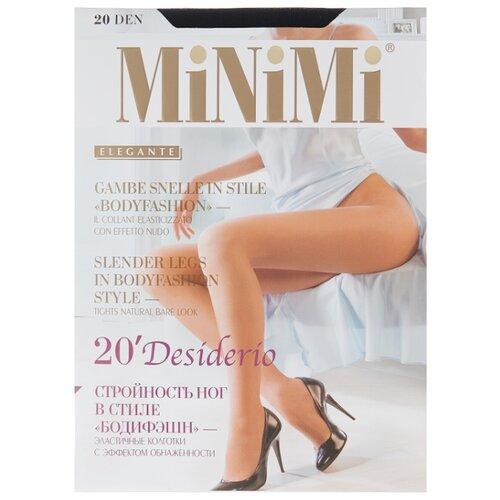 Колготки MiNiMi Desiderio (Nudo) 20 den, размер 2-S/M, nero (черный) колготки minimi desiderio nudo 20 den размер 3 m nero черный