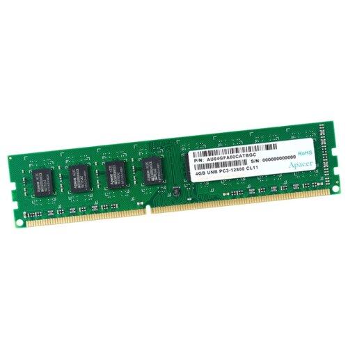 Оперативная память Apacer DDR3 1600 (PC 12800) DIMM 240 pin, 4 ГБ 1 шт. 1.5 В, CL 11, DL.04G2K.HAM
