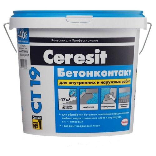 Грунтовка Ceresit CT 19 Бетонконтакт (зимняя формула) 5 кг цена