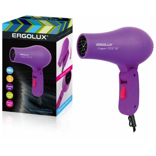 Фен электрический компактный Ergolux ELX-HD05-C12 фен ergolux elx hd05 с12 фиолетовый