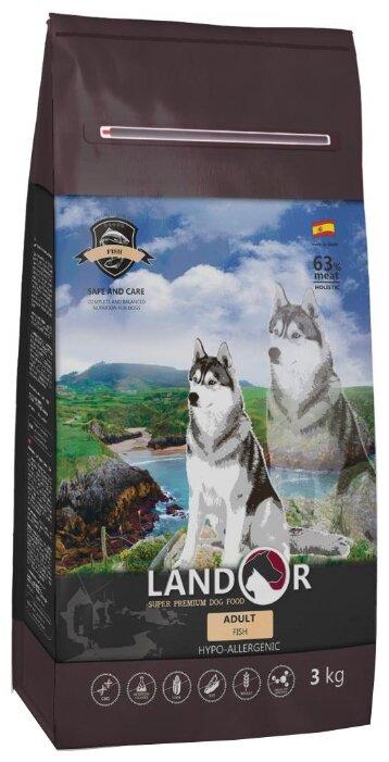 Корм для собак Landor (3 кг) Adult Dog Fish с рисом и рыбой