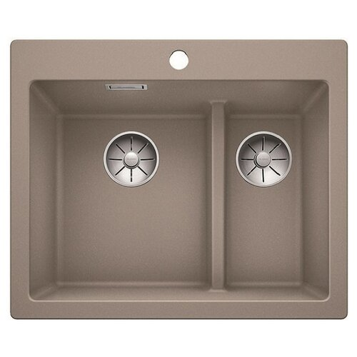 Фото - Врезная кухонная мойка 61.5 см Blanco Pleon 6 Split серый беж кухонная мойка blanco pleon 6 split infino серый беж 521696