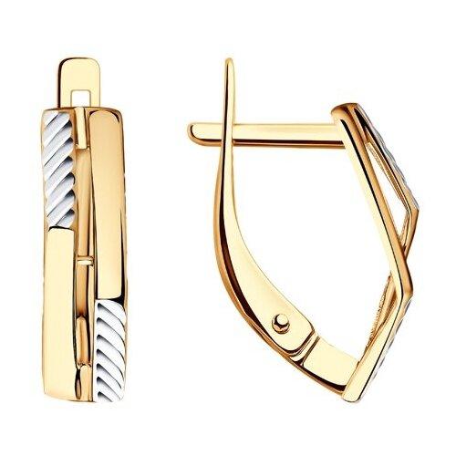 SOKOLOV Серьги из золота с алмазной гранью 028517 фото