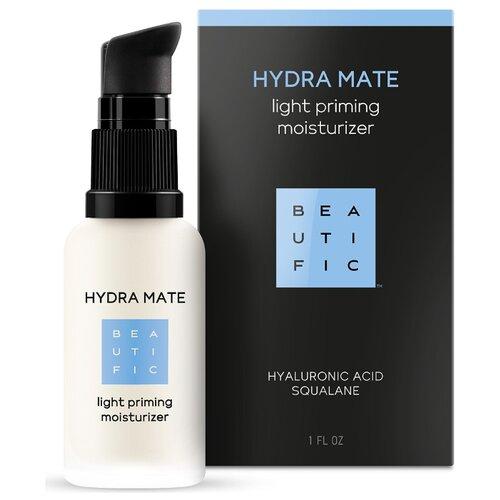 BEAUTIFIC Hydra Mate Light Priming Moisturizer Легкий увлажняющий флюид для лица с гиалуроновой кислотой и скваланом, 30 мл
