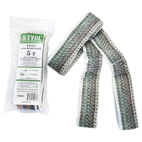 Ленточный буксировочный трос STVOL STB0500 4 м (5 т) серый