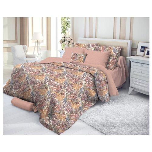 Постельное белье 2-спальное Verossa Nikea 70х70 см, страйп коричневый