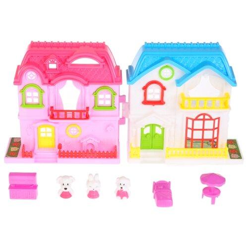 Купить Играем вместе кукольный домик B1203161-R, белый/голубой/розовый, Кукольные домики