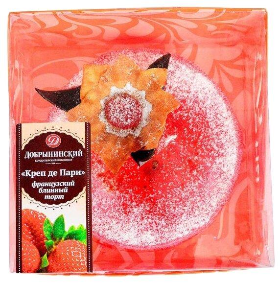Торт Креп де Пари Добрынинский клубничный, 1 кг